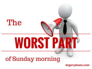 The worst part of Sunday morning