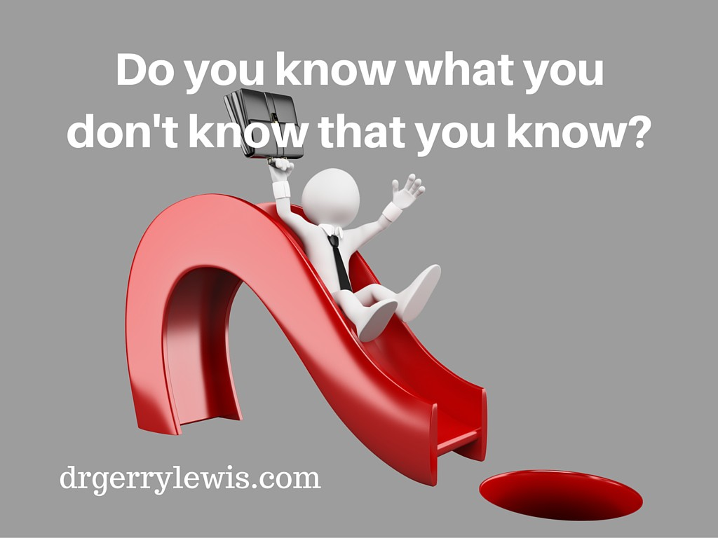 Do you know what you don't know that you know_