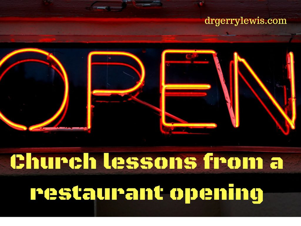 Church lessons from a restaurant opening